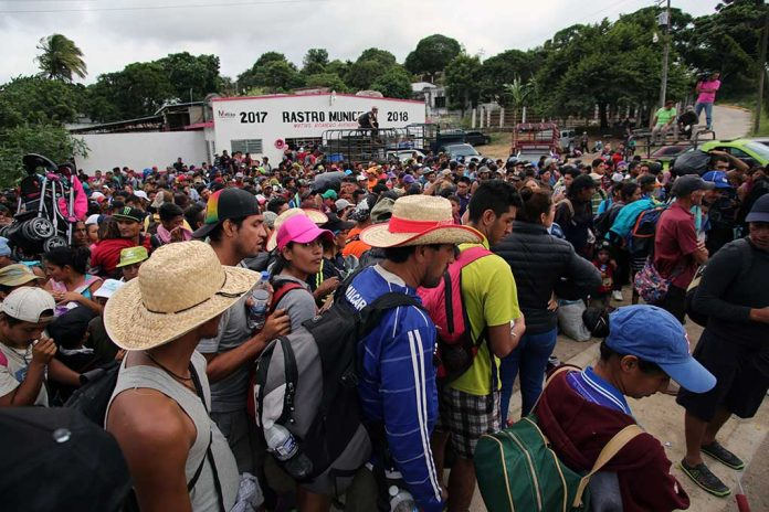 Migrant Caravan Stops In Guatemala Amid Crackdown