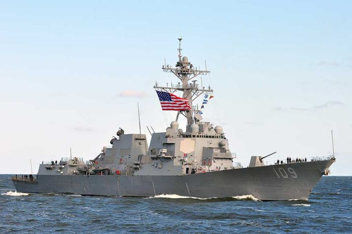 US Navy Caves to